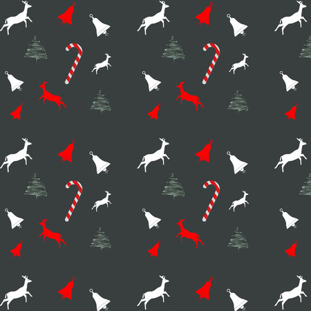 Christmas seamless pattern, vector, illustration, eps file