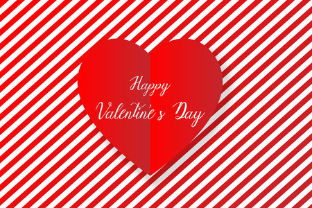 Happy valentine's day heart background, vector, illustration, eps file Stockfoto - 126618844