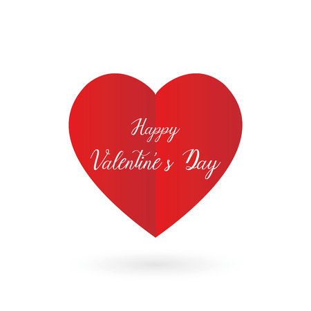 Happy valentines day heart background, vector, illustration, eps file