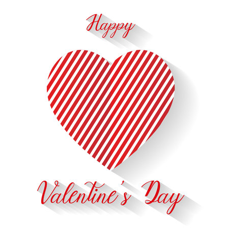 Happy valentine's day heart background, vector, illustration, eps file Stockfoto - 126618846