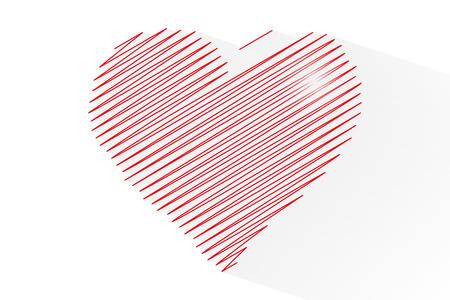 Line heart shape for celebrations, vector, illustration, eps file