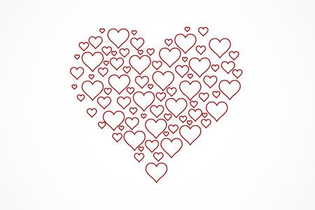 Heart shape for celebrations, vector, illustration, eps file