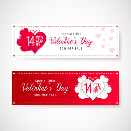 Valentines day sale banner, vector, illustration, eps file