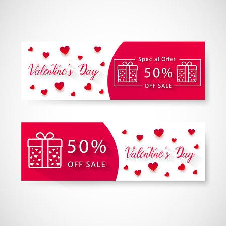Valentines day sale banner, vector, illustration, eps file