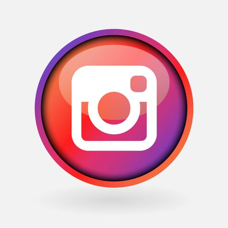 Istanbul, Turkey - February 24, 2019: Collection of popular social media logo on white paper: Instagram. Redactioneel