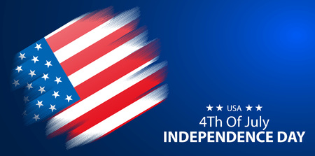 4th of July, United States independence day blue background, vector, illustration