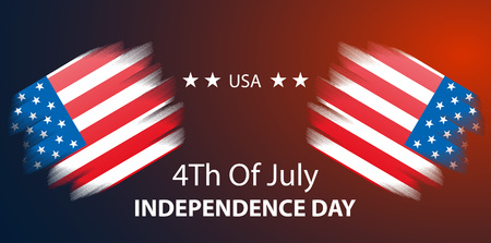 4th of July, United States independence day red background, vector, illustration