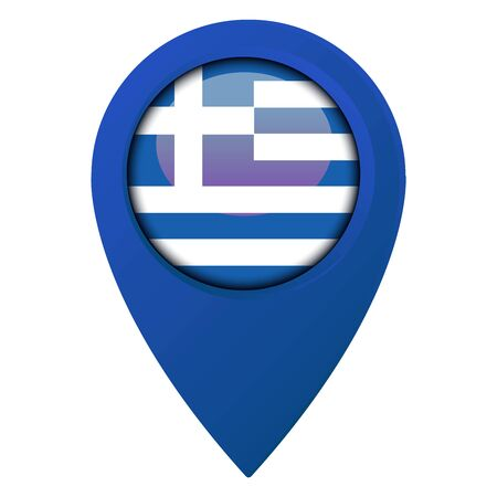Location Icon for Greece Flag, Vector, Illustration.