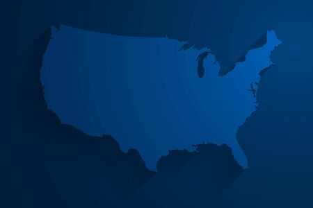 Abstract blue USA map background, vector, illustration.