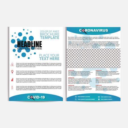 Corona virus pandemic disease flyer, vector, illustration, eps file