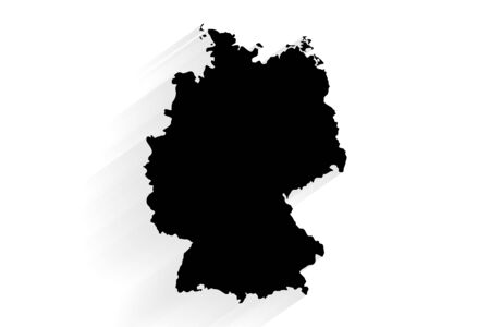 Simple black Germany map on white background, vector, illustration, eps 10 file
