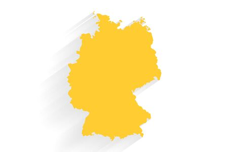 Simple yellow Germany map on white background, vector, illustration, eps 10 file