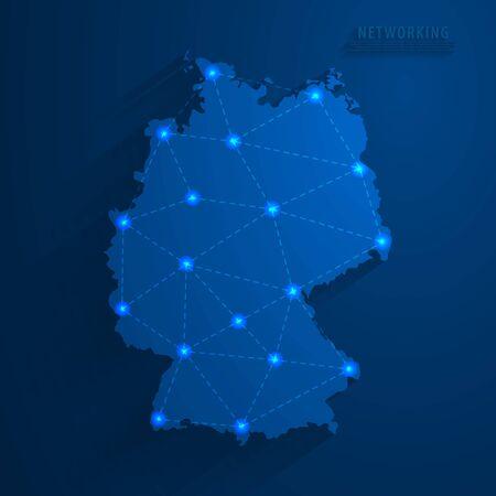 Simple blue Germany map technology background, vector, illustration, eps 10 file Stockfoto - 148447632