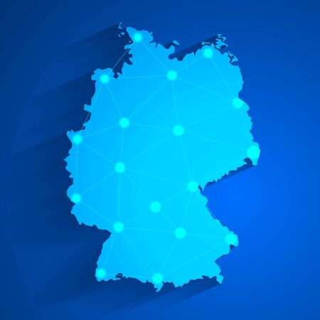 Simple blue Germany map technology background, vector, illustration, eps 10 file