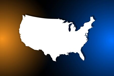 United States map on network connection, blue USA map, vector, illustration, eps file Stockfoto - 147281824