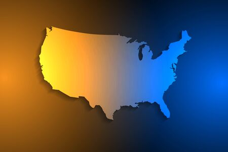 United States map on network connection, blue USA map, vector, illustration, eps file