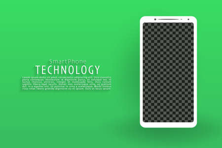 Smartphone screen landing page background, green screen background, vector, illustration, eps file