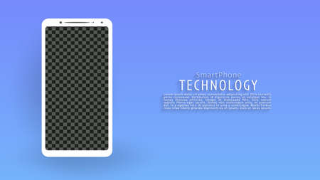 White smartphone screen landing page background, green and white background, vector, illustration, eps file Stockfoto - 150653914