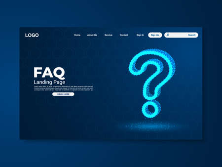 FAQ technology landing page design