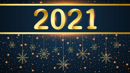 Merry christmas background, 2021 happy new year 2021 Background, vector, illustration Stock Illustratie