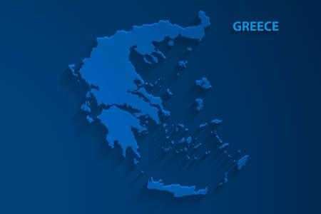 Blue Greece map background, vector, illustration, eps 10 file