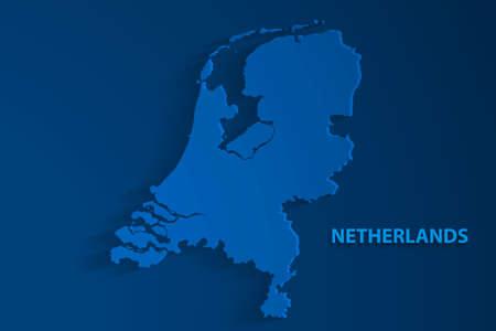 Blue Netherlands map background, vector, illustration, eps 10 file