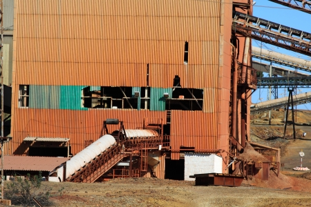 silver ingots: copper mine, Minas de Riotinto, Andalusia, Spain Stock Photo