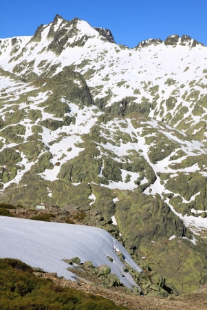 Snow gredos mountains in avila Spain photo