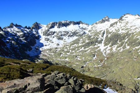 Snow gredos mountains in avila Spain photo