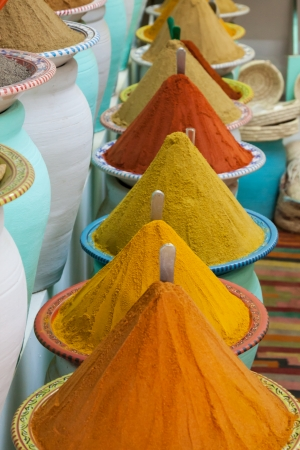 Spices at the market Marrakech, Morocco Stock Photo