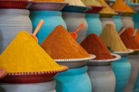 Spices at the market Marrakech, Morocco photo