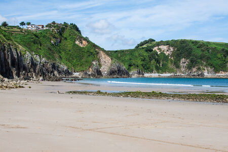broken hill: Beach of Pechon, Cantabria, Spain