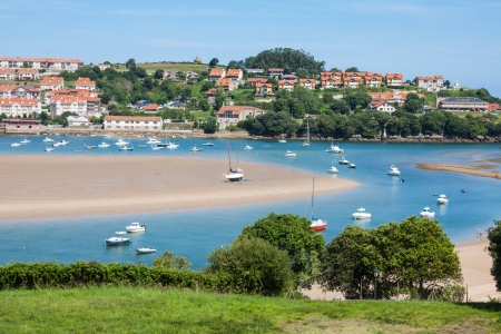 Coastal village in Cantabria, San Vicente de la Barquera,Spain
