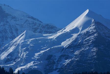 monch: Swiss Alps landscape near Interlaken in Europe.
