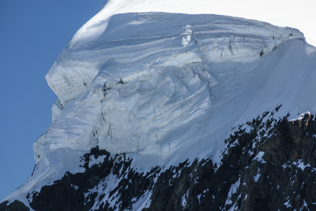 Breithorn peak in Swiss Alps seen from klein Matterhorn photo
