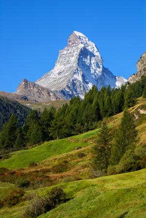 Matterhorn  4478m  in the Pennine Alps from Zermatt, Switzerland  photo
