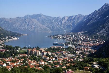 Kotor old town and Boka Kotorska bay, Montenegro photo