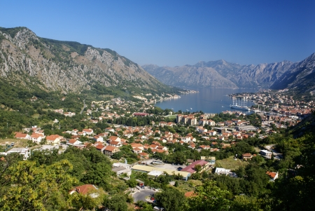 Kotor old town and Boka Kotorska bay, Montenegro photo