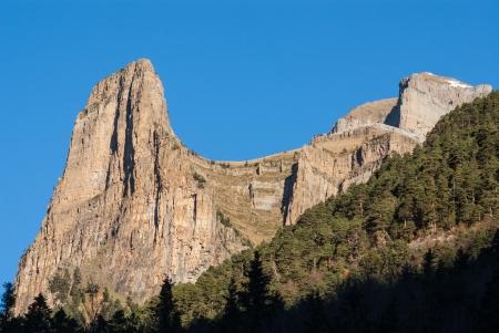 anisclo: Monte Perdido in Ordesa National Park, Huesca. Spain.