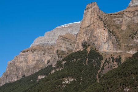 ordesa: Scenic view of famous Ordesa Valley, NP Ordesa y Monte Perdido, Spain.