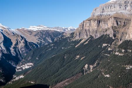 Monte Perdido in Ordesa National Park, Huesca. Spain. photo