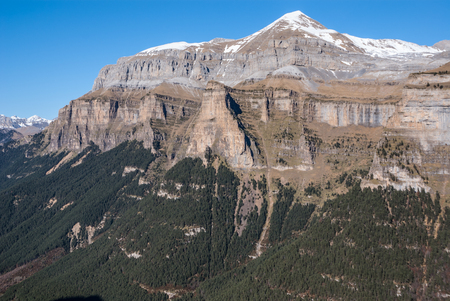 Monte Perdido in Ordesa National Park, Huesca. Spain. photo