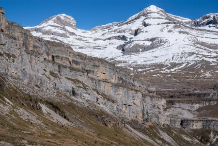 ordesa: Monte Perdido in Ordesa National Park, Huesca. Spain.