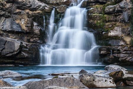 perdido: Cascade in a Spanish National Park Ordesa and Monte Perdido National Park