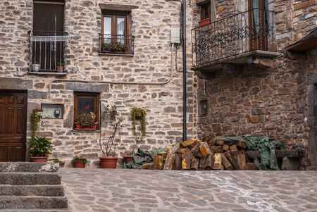 The medieval village of Torla in Spain pyrinees of Aragon photo