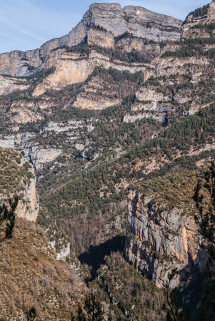 pinnacles in Anisclo Valley, Ordesa National Park, Pyrenees, Huesca, Aragon, Spain Stock Photo