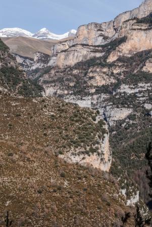 ordesa: pinnacles in Anisclo Valley, Ordesa National Park, Pyrenees, Huesca, Aragon, Spain Stock Photo