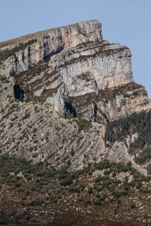 anisclo: pinnacles in Anisclo Valley, Ordesa National Park, Pyrenees, Huesca, Aragon, Spain Stock Photo