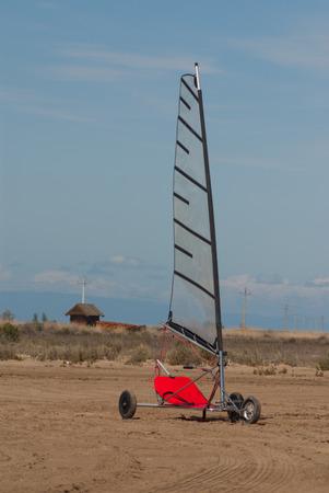 windsurfing: Windsurfing on wheels