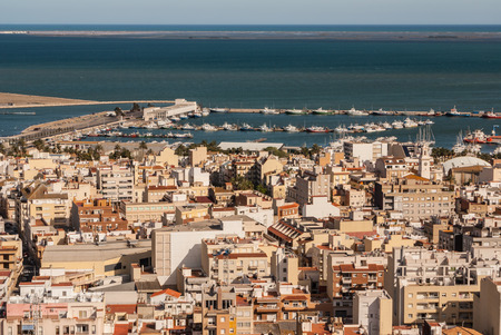 View of the city  in Amposta, Delta del Ebro, Catalonia  Spain